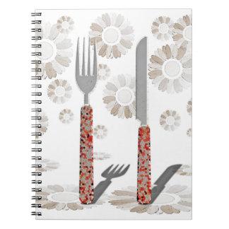 Messer und Gabel Spiral Notizblock