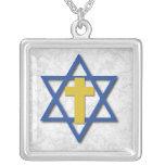 Messianisches Kreuz mit Davidsstern Amulett
