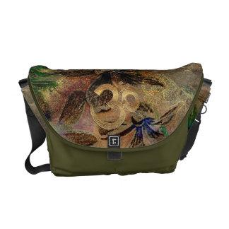 Messinggoldbraungrün beige turquois Messenge Tasch Kuriertasche