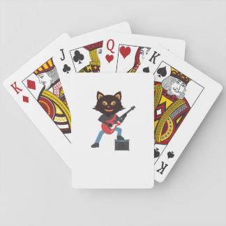 Metalcat Gitarren-Rock-Katzen-Liebhaber-lustige Spielkarten