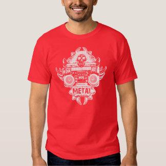 METALL! Alte Schule Boombox Hemd