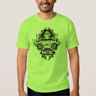 METALL! Alte Schule Boombox T Shirt