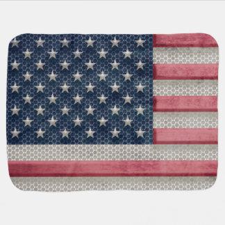 Metall, das patriotische amerikanische Flagge Puckdecke