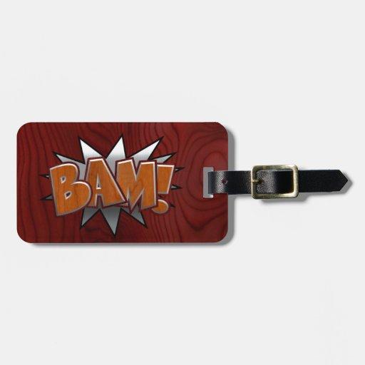 Metall-Holz-BAM! Koffer Anhänger