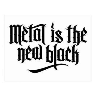Metall ist das neue Schwarze No.1 (Schwarzes) Postkarte