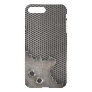 Metall mit Einschusslochhintergrund iPhone 8 Plus/7 Plus Hülle