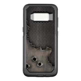 Metall mit Einschusslochhintergrund OtterBox Commuter Samsung Galaxy S8 Hülle