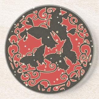 Metall mögen roten Schmetterling Sandstein Untersetzer