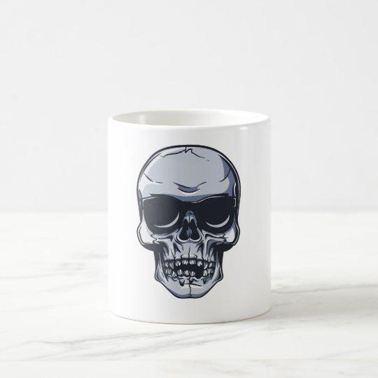 Metall Schädel Totenkopf metal skull Kaffeetasse