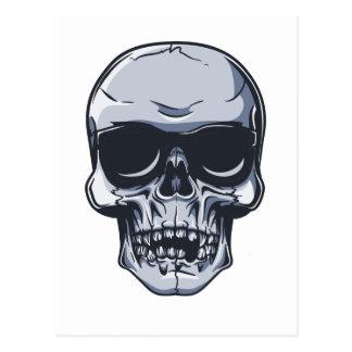 Metall Schädel Totenkopf metal skull Postkarte