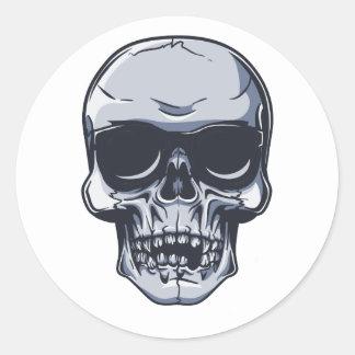 Metall Schädel Totenkopf metal skull Runder Aufkleber