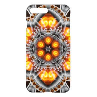 Metall-u. Flammen-Mandala iPhone 8 Plus/7 Plus Hülle