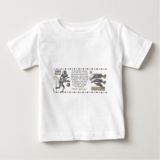 Metallaffetierkreis geborene Fische 1980 Baby T-shirt