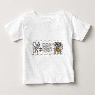 Metallaffetierkreis geborener Löwe 1980 Baby T-shirt