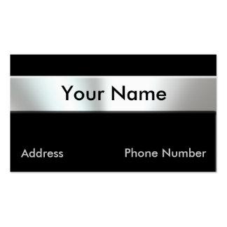 Metallblick-Nummernschild-Visitenkarten Visitenkarten