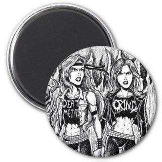 Metallfrauen Runder Magnet 5,1 Cm