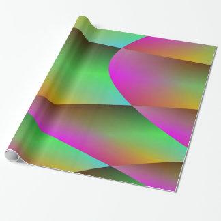 Metallisch im grünen und lila Verpackungs-Papier Geschenkpapier