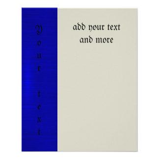 Metallisch, königlich, blau, modern, Schimmer, 11,4 X 14,2 Cm Flyer