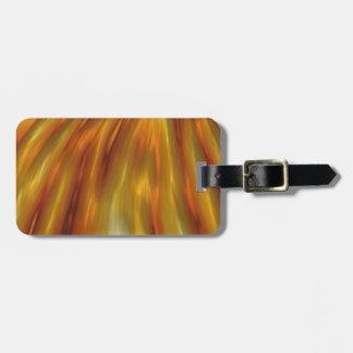 Metallische bernsteinfarbige Wellen des Kornes Kofferanhänger