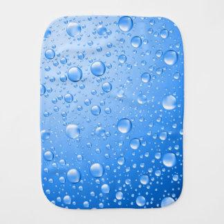 Metallische blaue Regen-Tropfen Spucktuch