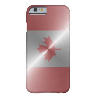 Metallische Flagge von Kanada Barely There iPhone 6 Hülle