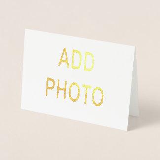Metallische Folien-Tinten-Gruß-12x18 Karte
