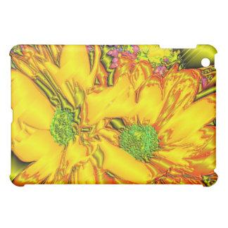 Metallische gelbe Blume iPad Mini Hülle