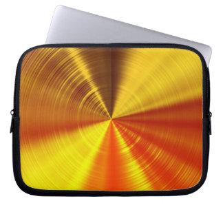 Metallische GoldSpirale Laptopschutzhülle
