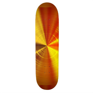 Metallische GoldSpirale Skateboard Brett
