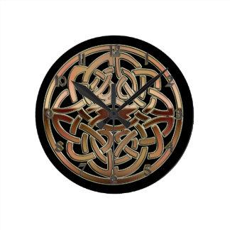 Metallische keltische Knoten-BronzeWanduhr Uhr