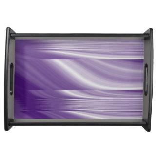metallische lila lila Linien des Mitte des Serviertablett