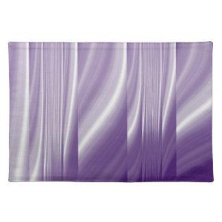 metallische lila lila Linien des Mitte des Tischset