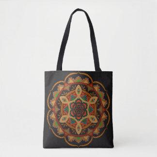 Metallische Mandala Tasche
