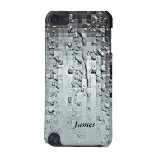 Metallische moderne abstrakte Regen-Tröpfchen iPod Touch 5G Hülle