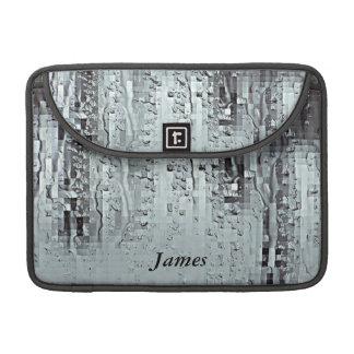 Metallische moderne abstrakte Regen-Tröpfchen MacBook Pro Sleeve