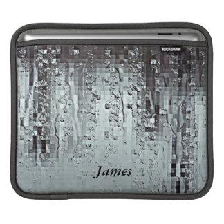 Metallische moderne abstrakte Regen-Tröpfchen Sleeve Für iPads