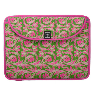 Metallische Wellen, Rosa-Grün-MacBook Pro15in MacBook Pro Sleeve