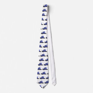 Metallischer Blau-halb Sattelzug-LKW Krawatte