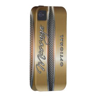 Metallischer Case-Mate-Fall der iPhone 4/4S Hülle