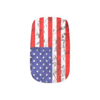 Metallischer Flagge-Entwurf 2 Minx Nagelkunst