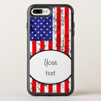 Metallischer Flagge-Entwurf 2 OtterBox Symmetry iPhone 8 Plus/7 Plus Hülle