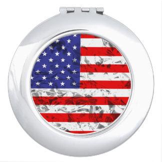 Metallischer Flagge-Entwurf 2 Schminkspiegel