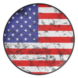 Metallischer Flagge-Entwurf 2 Teller