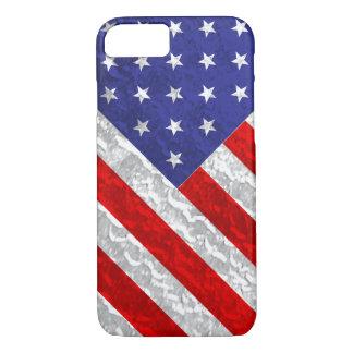 Metallischer Flagge-Entwurf iPhone 8/7 Hülle