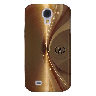 Metallischer Kupfer-Ton-Edelstahl-Blick Galaxy S4 Hülle