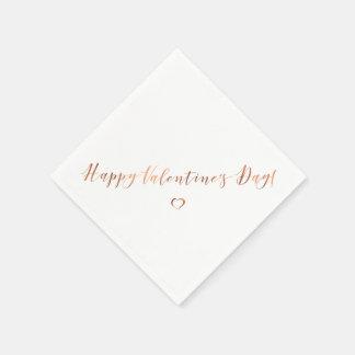 Metallischer Kupferblick Valentinstagentwurf Papierserviette