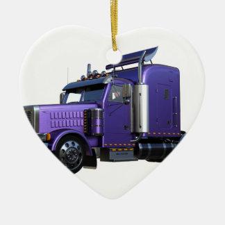 Metallischer lila halb Traktor-Anhänger-LKW Keramik Ornament