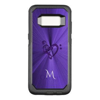 Metallischer lila Kasten der Musik-Herz-Galaxie-S8 OtterBox Commuter Samsung Galaxy S8 Hülle