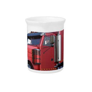 Metallischer Rot-halb Traktor Traler LKW Getränke Pitcher