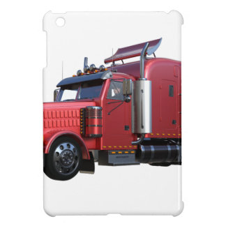 Metallischer Rot-halb Traktor Traler LKW iPad Mini Hülle
